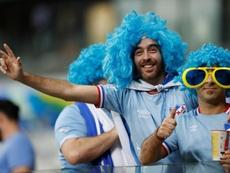 Supporters de l'Uruguay. EFE