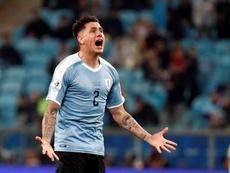 Giménez atteint les 50 sélections avec L'Uruguay. EFE