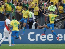Casemiro opened the scoring for Brazil. EFE