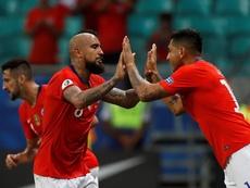 La CONMEBOL asegura que no actuará de oficio con Jara (d). EFE