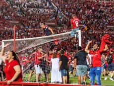 El Mallorca volverá a jugar en Primera. EFE