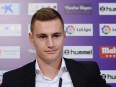 De Frutos, cedido por el Real Madrid, no ha tenido hueco en el Valladolid. EFE