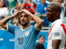 Giorgian De Arrascaeta é preocupação para Uruguai e Flamengo. EFE/Mauricio Dueñas Castañeda