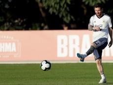 Messi s'est entraîné sans douleur à la cheville. EFE