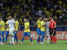 ¿Messi contra Rodrygo? EFE/Fernando Bizerra