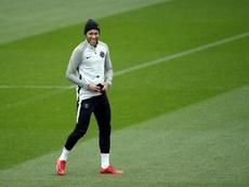 Neymar está cerca de salir del PSG. EFE/Yoan Valat/Archivo