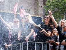 A festa das campeãs em Nova Iorque. EFE