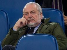 De Laurentiis habría llamado a Ancelotti de haber estado libre. EFE/Archivo