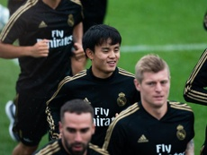 Kubo jugará en el Mallorca. EFE/Johany Jutras