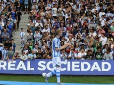 Odegaard dejó muy buena imagen en su estreno con la Real. EFE/Gorka Estrada/Archivo