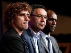 Eric Abidal a évoqué l'arrivée d'Antoine Griezmann au Barça. AFP