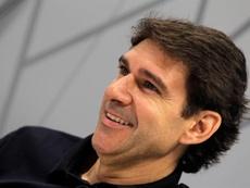 Karanka se deshizo en elogios hacia Raúl González. EFE/Marcel Guinot