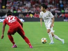 Kubo est revenu sur ses premières minutes avec le maillot du Real. EFE