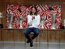 Filipe jamás olvidará a la gente del Atlético celebrando el título. EFE