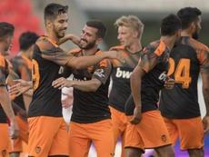 El Valencia venció al Sion con comodidad. EFE/EPA