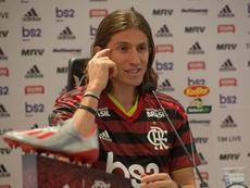 'Engrenando' pelo Flamengo, Filipe Luis estreia na Libertadores nessa quarta-feira. EFE
