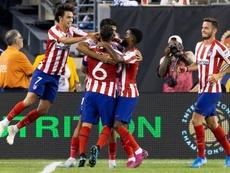 El Atleti se llevó el triunfo en el partido de las estrellas de la MLS. Twitter/Atleti