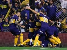 Boca sumó su primera victoria en la Superliga Argentina. EFE