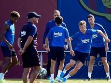 La defensa que planea Valverde. EFE