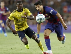Maitland-Niles was close to leaving. AFP