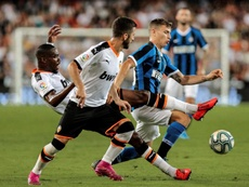 Skriniar podría estar contra el Madrid. AFP