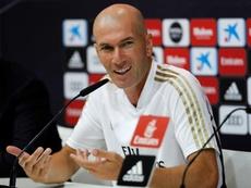 Zidane compareció en sala de prensa antes de viajar a Vigo. Captura/RealMadrid
