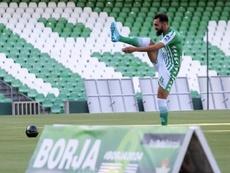 Borja Iglesias jugó en su estreno con un tobillo dañado. EFE/Archivo