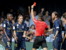Luka Modric receives first red of La Liga season due to new rules