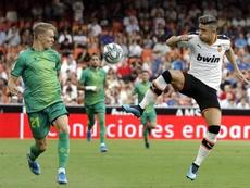 El Valencia empató en casa ante la Real Sociedad en la primera jornada de liga. EFE