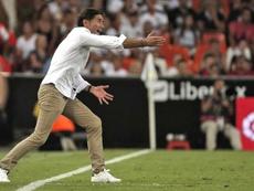 El Valencia ya comenzó la temporada a las órdenes de Marcelino. EFE/Manuel Bruque