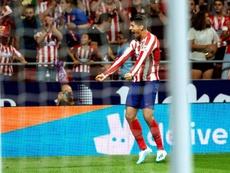 Morata tuvo un detalle que enamoró a los 'colchoneros'. EFE