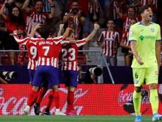 El Atlético le gana al Getafe. EFE