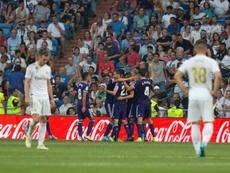 El Valladolid ha sumado sus cuatro puntos en los últimos minutos. EFE