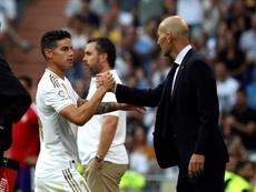 Las palabras de James al volver al Bernabéu. EFE/Kiko Huesca
