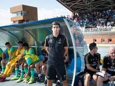Raúl inauguró su periplo en el banquillo del Castilla. EFE