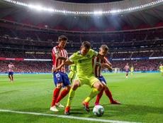 El Getafe suma 16 partidos sin hacerle un gol al Atlético. EFE