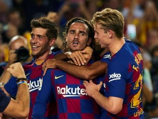 Griezmann was the star of the show for Barcelona in the high scoring win over Betis. EFE