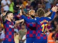 Vidal a pulvérisé un autre record contre le Betis Séville. EFE