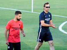 Lopetegui se 'carga' a Rony Lopes y Dabbur ante el Getafe. EFE/Raul Caro