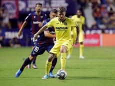 Alberto Moreno es feliz de amarillo. EFE