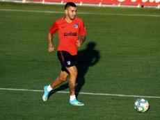 Ángel Correa volta a brigar pela titularidade. EFE/Kiko Huesca