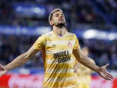 Stuani cumple 75 partidos con la camiseta del Girona. EFE
