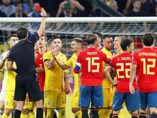L'Inter a supervisé Marin face à l'Espagne. EFE