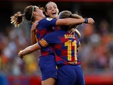 El Barcelona venció y fue muy superior al Tacón. EFE