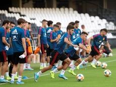 Manu Morlanes, encantado con su inicio en el Almería. EFE