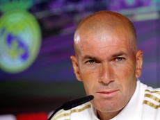 Zidane spoke at a press conference ahead of the Levante game. EFE