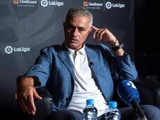 Mourinho retageó la pregunta sobre el Madrid. EFE