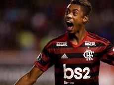 Bruno Henrique, séria ameaça para o River. EFE/José Jácome/Archivo