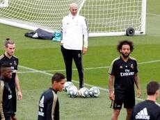 El Madrid entrenó de cara al partido ante el PSG. EFE/Archivo