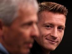 Reus pidió el concurso de Messi en el choque. EFE